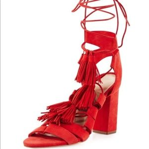 New LOEFFLER RANDALL Luz Suede Sandals - Size 6.5